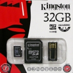 Карта памяти Kingston microSDHC 32Gb class10 (MBLY10G2/32Gb)