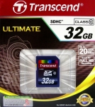 Карта памяти Transcend SDHC 32GB ultimate (TS32GSDHC10) класс10