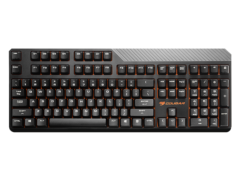 Клавиатура COUGAR ATTACK 2 (Cherry MX Blue) Black USB